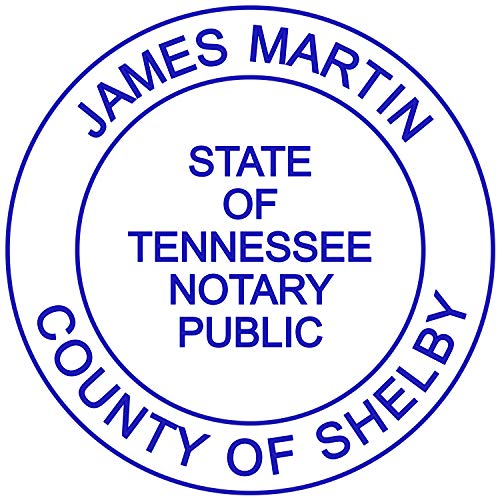 Cover Stamp Pre - Round Notary Stamp for State of Tennessee- Self Inking Stamp - Top Brand Unit with Bottom Locking Cover for Longer Lasting Stamp - 5 Year Warranty