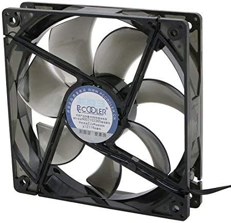NA DC12V 1200RPM 4 Blue LED Lights 18dBA Mute Fan for PC CPU Cases Cooler Radiator 12cm w Screw