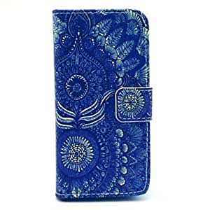 GOG Sunflower Pattern PU Leather Case with Stand and Card Slot for iPhone 5C