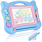 GotechoD Magnetic Drawing Board for Kids, Erasable Travel Size Magna Drawing Doodle Board, Writing Sketching Drawing Doodle Pad Learning Toys for 3/4/5/6 Years Old Boys Girls Gift