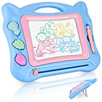 GotechoD Magnetic Drawing Board for Kids, Erasable Colorful Magna Doodle Drawing Board Toys Education Writing Sketching Drawing Pad with 4 Color Zone for Toddler Boys Girls