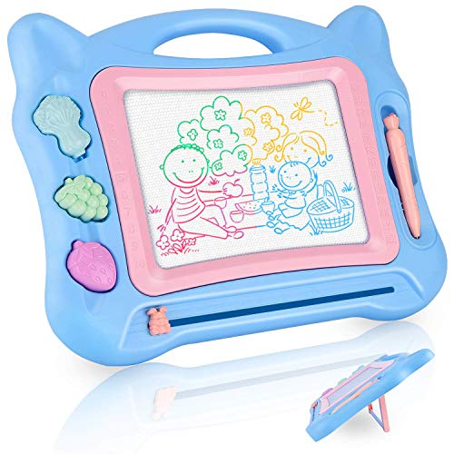 (GotechoD Magnetic Drawing Board for Kids, 13.4X17.5'' Erasable Magna Doodle Board Drawing Doodle Magnet, Drawing Toy Writing Sketching Doodle Pad for 3+ Toddlers Boys Girls Birthday Gift)
