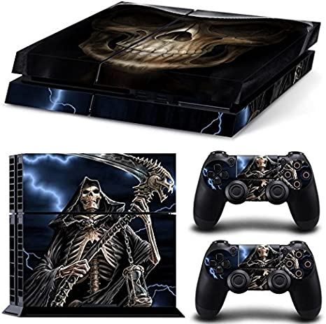 Gam3Gear Pattern Series Decals Skin Vinyl Sticker for PS4 Console & Controller (NOT PS4 Slim / PS4 Pro) - The Grim Reaper