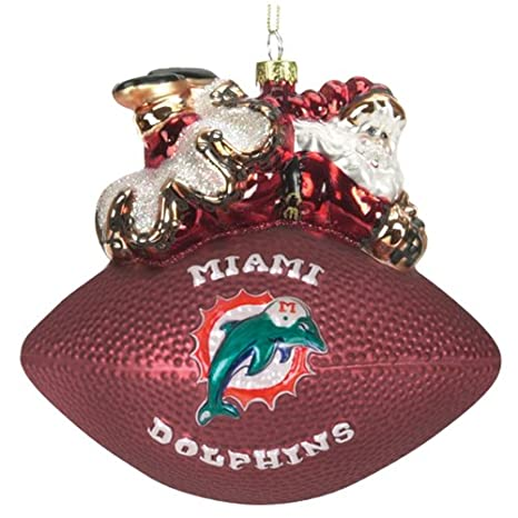 NFL Peggy Abrams Glass Football Ornaments