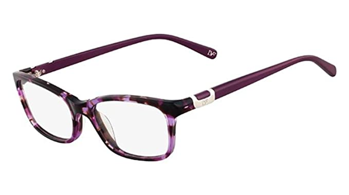 68c991f8856 Image Unavailable. Image not available for. Color  DVF Eyeglasses 5051 518  Purple Tortoise 50MM