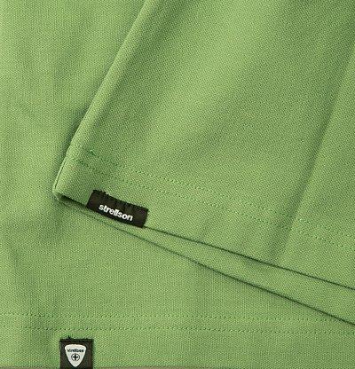 Strellson Premium Herren Polo-Shirt Baumwolle T-Shirt Unifarben, Größe: XL, Farbe: Grün