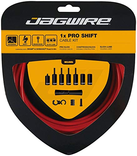 Jagwire 1x Pro Shift Kit Road/Mountain SRAM/Shimano 4mm (Red) by Jagwire