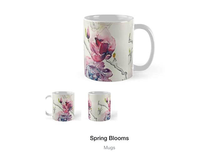 Artsy Watercolor Coffee Mug Private Collection With Whimsical Animal Flower Prayer Bather Unique Art Gift For Mothers Day Fathers