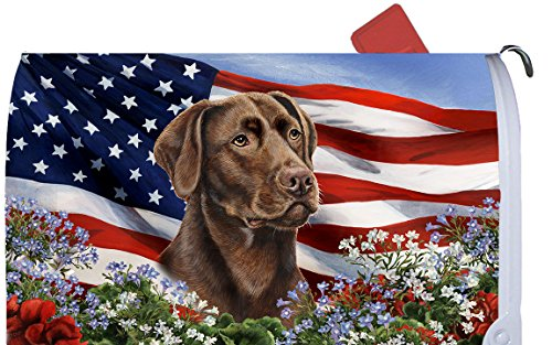 Best of Breed Chocolate Labrador Patriotic I Dog Breed Mail Box Cover