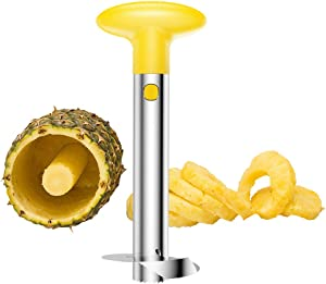 Pineapple Peeler, [Upgraded] SameTech Stainless Steel Pineapple Core Remover Slicer Tool for Home & Kitchen with Sharp Blade for Diced Fruit Rings