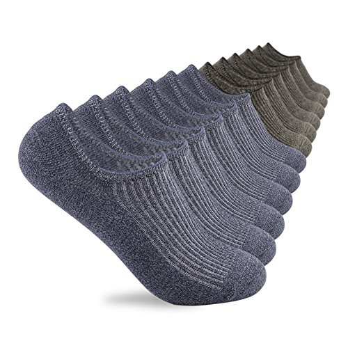 Yingdi No Show Low Cut Casual Non-Slide Socks for Men and Women – Pack of 6 pairs