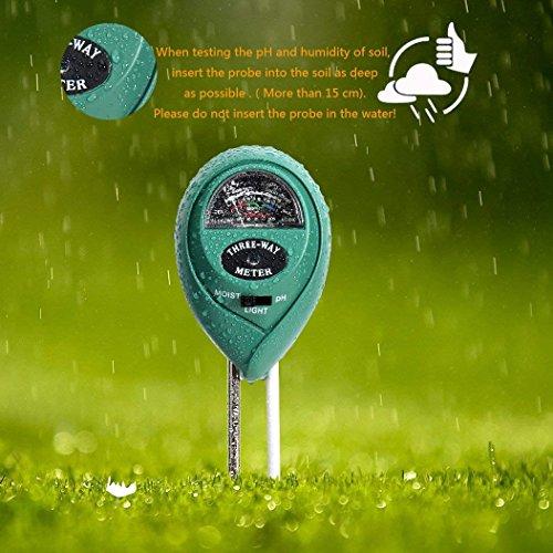 MEYUEWAL 3-in-1 Soil Test Kit for Moisture, Light & pH, Soil PH Tester Pro, for Garden,Farm,Plants, Lawn, Indoor/Outdoors Plant Care Soil Tester (No Battery Needed) by MEYUEWAL (Image #4)