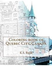Coloring book of Quebec City, Canada