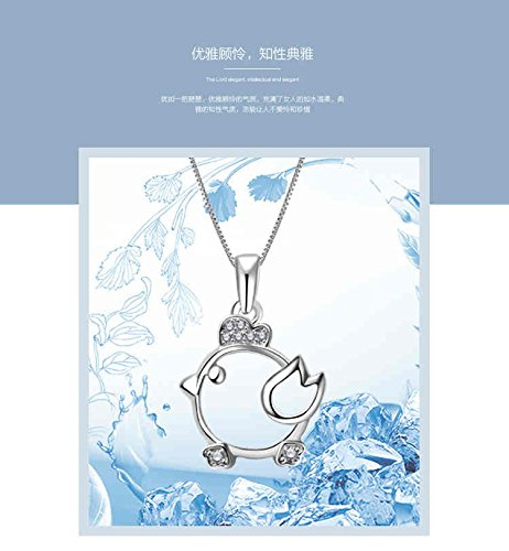 Generic 925 sterling silver zodiac animal year clavicle chain necklace chicks