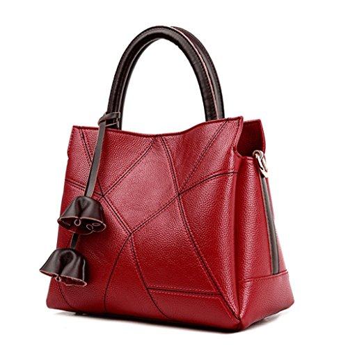 Handbag Bolso de Hombro Decorativo de la Flor de la Franja de la Cruz geométrica Diagonal del Zurriago del Bolso de Las Mujeres A+ (Color : 3#) 3#