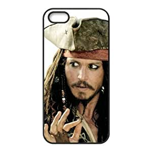 iPhone 5 5s Cell Phone Case Black Pirates of the Caribbean Plastic Phone Case Clear XPDSUNTR04316