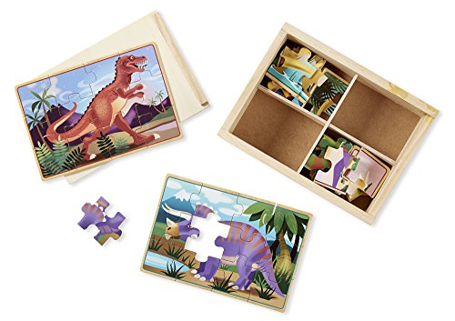 Melissa & Doug Dinosaurs 4-in-1 Wooden