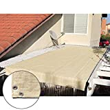 Alion Home Pergola Shade Cover Sunblock Patio Canopy HDPE Permeable Cloth with Grommets (6' x 10', Beige)