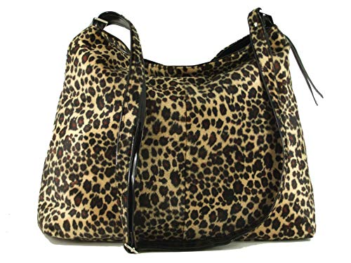 LONI Womens Shoulder Cross-body Hobo Bag Leopard Zebra Faux Snakeskin Animal Print