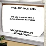 Window Air Conditioner Cover - indoor Window/thru Wall Cover - 27W,18H,4D - White