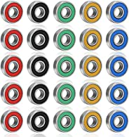 fidget pencil 50 Pack 608-2RS Ball Bearings, ABEC-9 Skate Bearings, Double Rubber Sealed Miniature Deep Groove