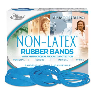 (Antimicrobial Non-Latex Rubber Bands, Sz. 117B, 7 x 1/8, .25lb Box)