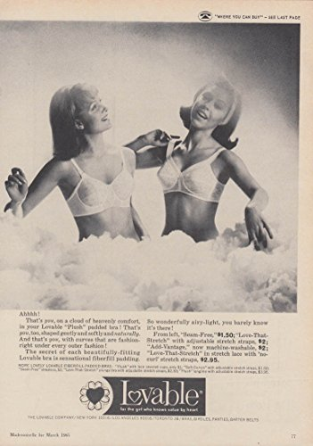 Ahhhh! That's you in Lovable Plush Padded Bra ad 1965 Mlle ()