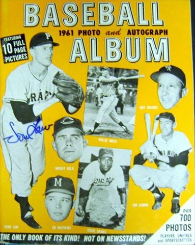 Autograph Warehouse 42971 1961 Baseball Photo Book Autographed By 18 Including Vin Scully, Bob Murphy, Duke Snider, Robin Roberts, Brooks Robinson, Skowron, Groat, (Autographed Duke Snider Photo)