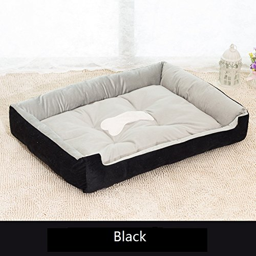 Harkokoro(TM)Cozy Big Size Dogs Bed Kennel for Large Dog, Pet, Puppy, Easy to wash, Warm and Comfortable, Black, XL