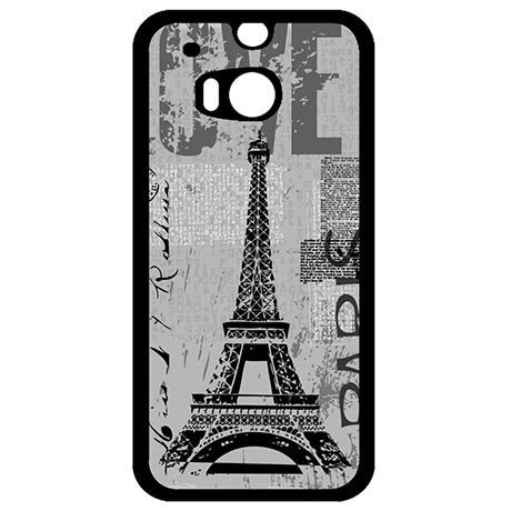 Unique Cartoon Phone Case For Htc One M8 (Black) - 5
