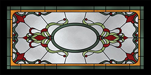Stained Glass 4 - 2ft x 4ft Drop Ceiling Fluorescent Decorative Ceiling Light Cover Skylight Film - Decorative Fluorescent Light