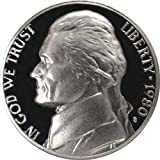 1980 S Gem Proof Jefferson Nickel US Coin