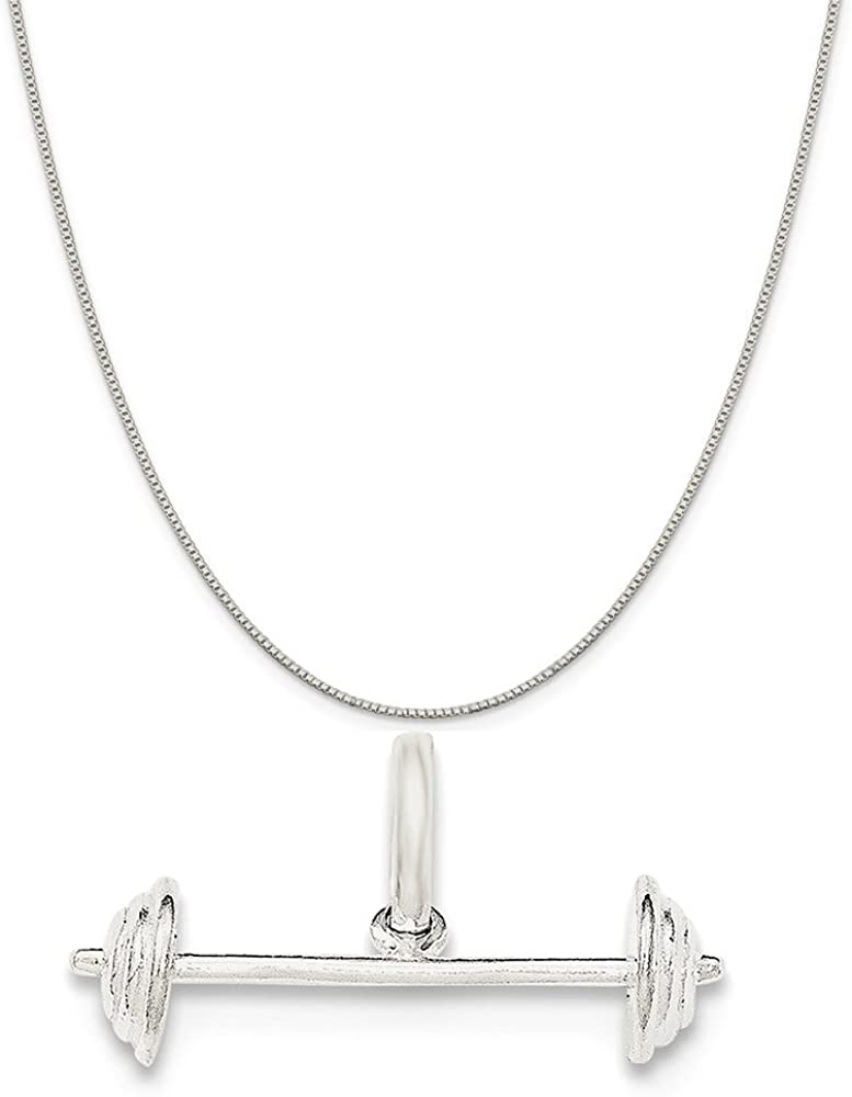 Mireval Sterling Silver Megaphone Charm on a Sterling Silver Chain Necklace 16-20