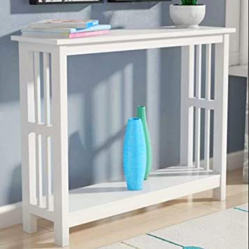 Excellent Amazon Com Hall Console Table White Narrow Sofa Side Table Beatyapartments Chair Design Images Beatyapartmentscom