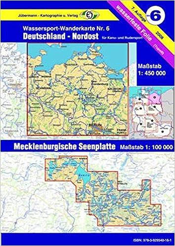 Mecklenburgische Seenplatte Karte Pdf.Wassersport Wanderkarte Kanu Und Rudersportgewässer Jübermann