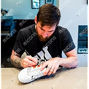 LIONEL MESSI Autographed Official Adidas Red Nemeziz 17.4 Boot (Cleat) ICONS