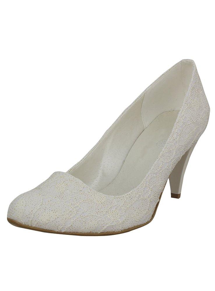 Chaussures de mariée Dentelle Blanche ou Ivoire