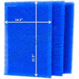 StratosAire Air Cleaner Replacement Filter Pads 16x25 Refills (3 Pack) BLUE