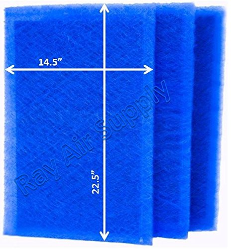 RAYAIR SUPPLY 16×25 ARS Rescue Rooter Air Cleaner Replacement Filter Pads 16×25 Refills (3 Pack)