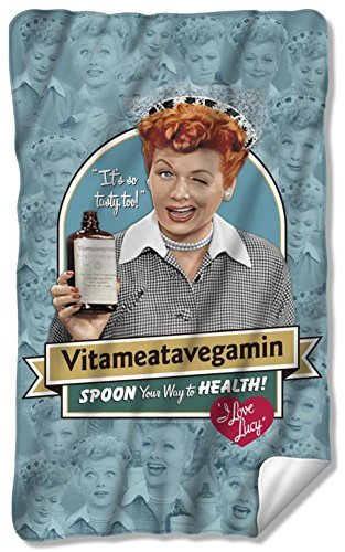 I Love Lucy - Vitameatavegamin Fleece Blanket 35 x -