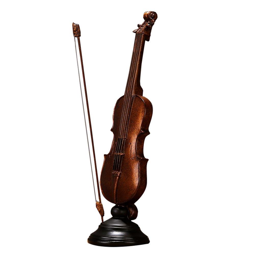 BWLZSP 1 PCS Vintage resin violin model set a soft Desktop display window photography props club bar sculpture LU627416
