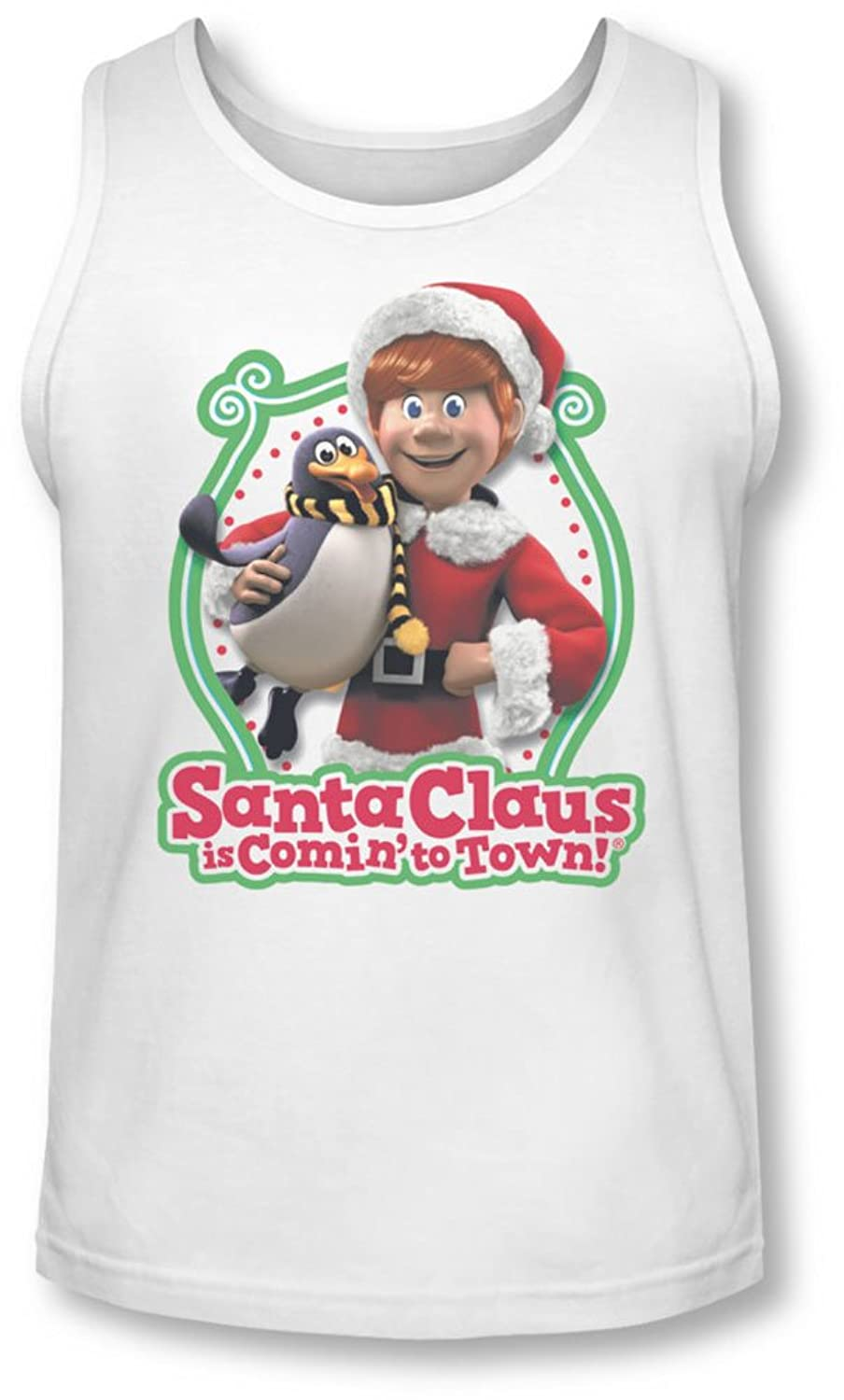 Santa Claus Is Comin To Town - Mens Penguin Tank-Top