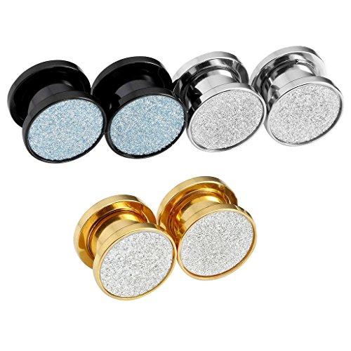 JOVIVI Stainless Silver Glitter Barbell