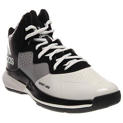 meet af616 f2f27 Adidas Mens Intimidate Basketball WhiteBlackWhite 11 D(M) US