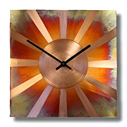 Sunny Copper Wall Clock 12-inch Silent Non Ticking
