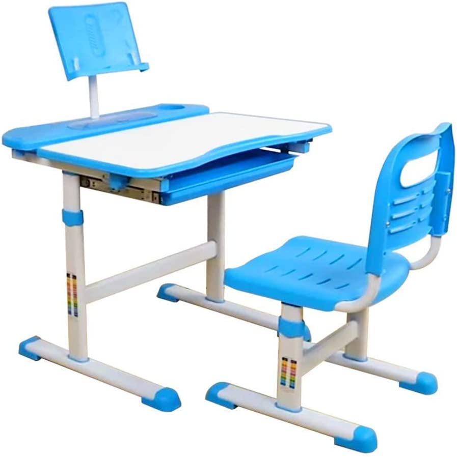 Maximum Storage Capacity Height-adjustable Desk for Children From 3 To 15 Years Vixzero Table and Chair Set for Children with Tiltable Eye Protection Desktop