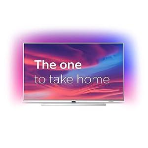 """Philips 58PUS7304/12 - Televisor de 58"""" LED (4K UHD, Ambilight, Dolby Atmos, Google Assistant y compatibilidad con Alexa) Plata Claro"""