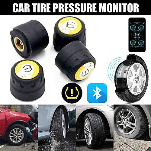 Leaftree Tpms Bluetooth TPMS universale con 4 sensori di pressione wireless per pneumatici per auto