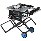 Delta 366022 10 in. Left Tilt Table Saw 30 in. Rip with Folding Stand and Wheels