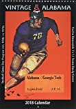 Vintage Alabama Crimson Tide 2018 College Football Calendar: Football Game-day Program Art: 1900s to 1970s